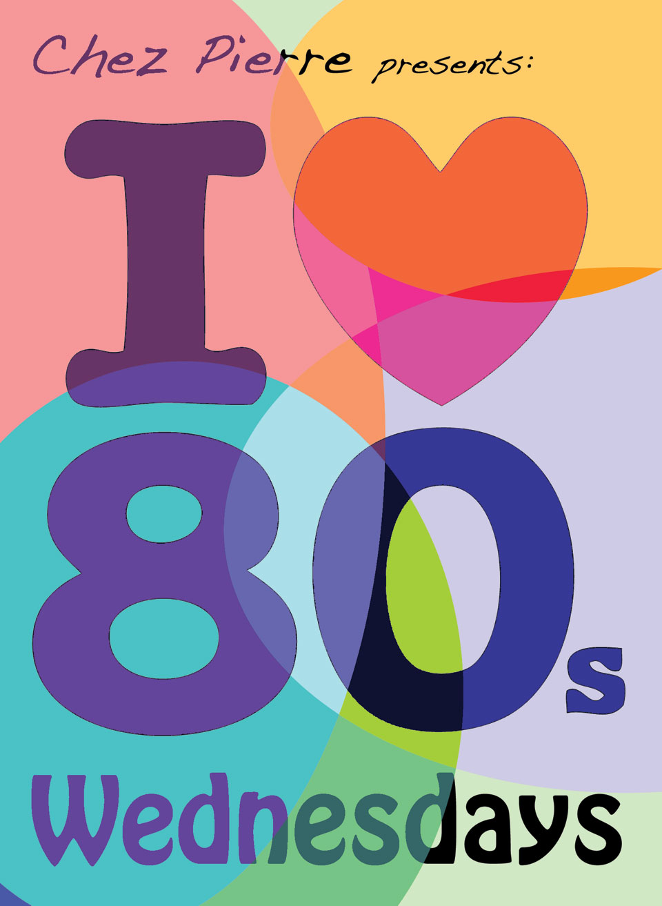 I Love 80′s Table Tent