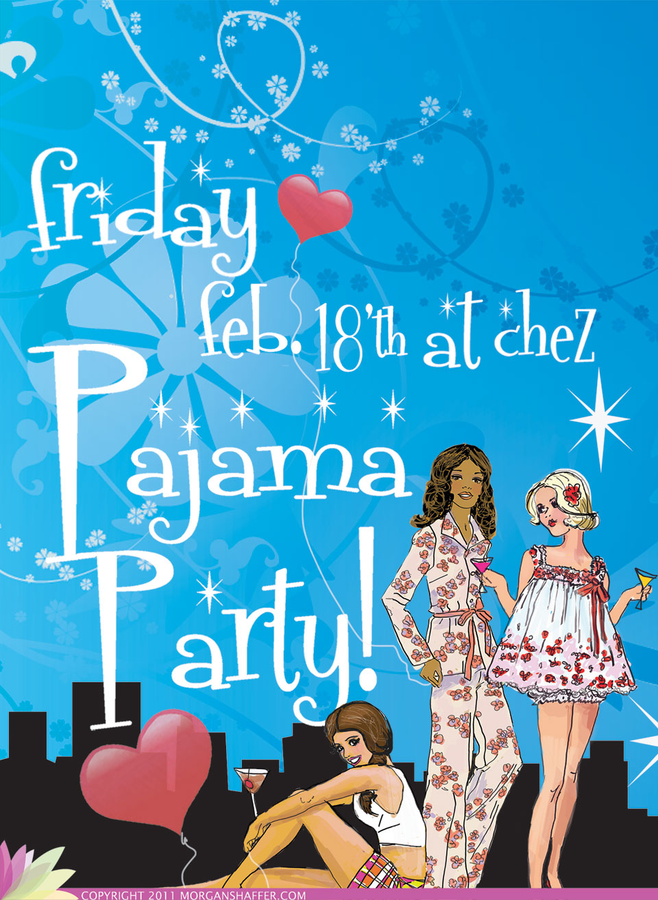Pajama Party Table Tent