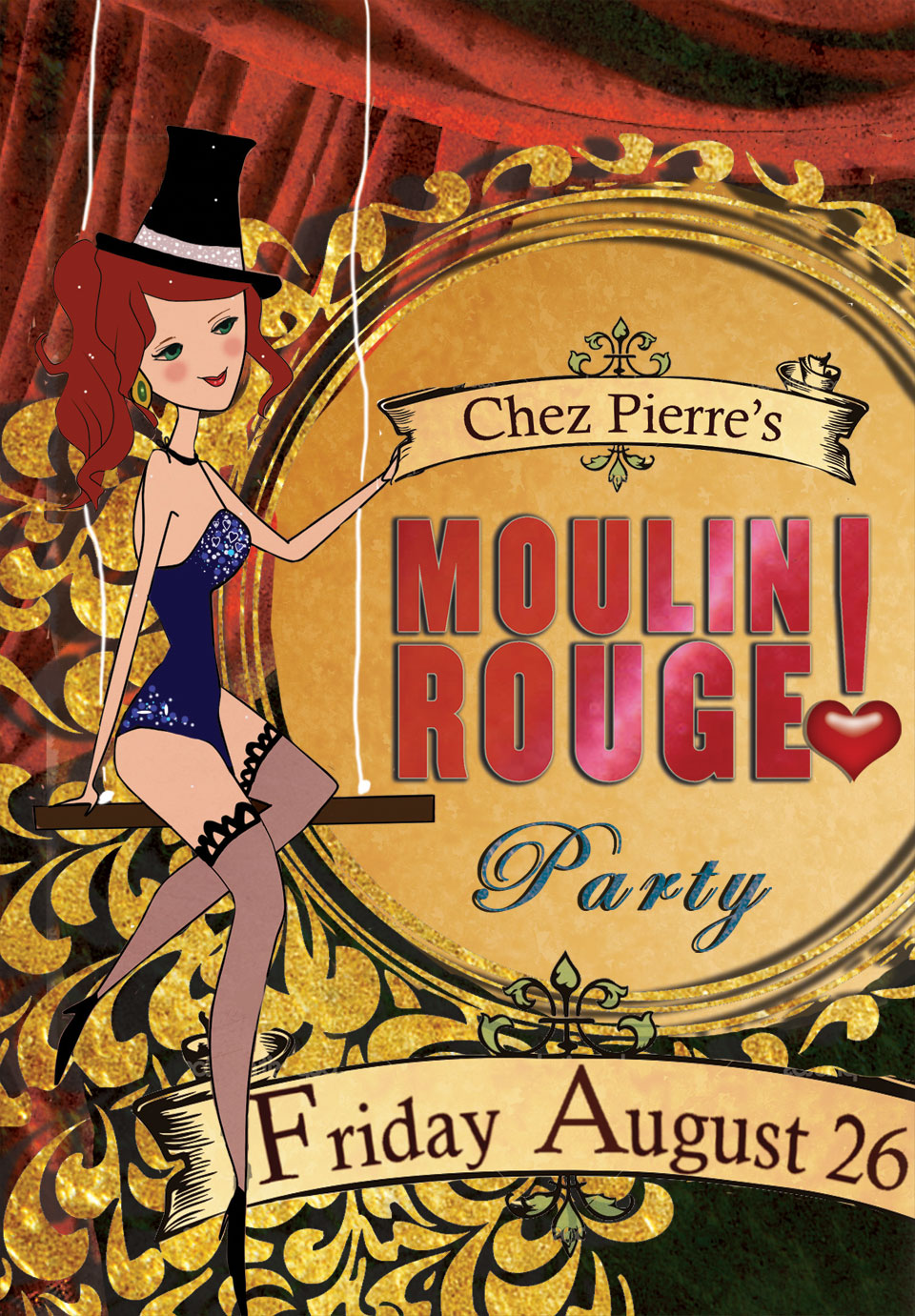 Moulin Rouge Table Tent