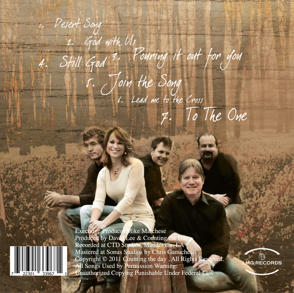 Counting The Day CD  back cover