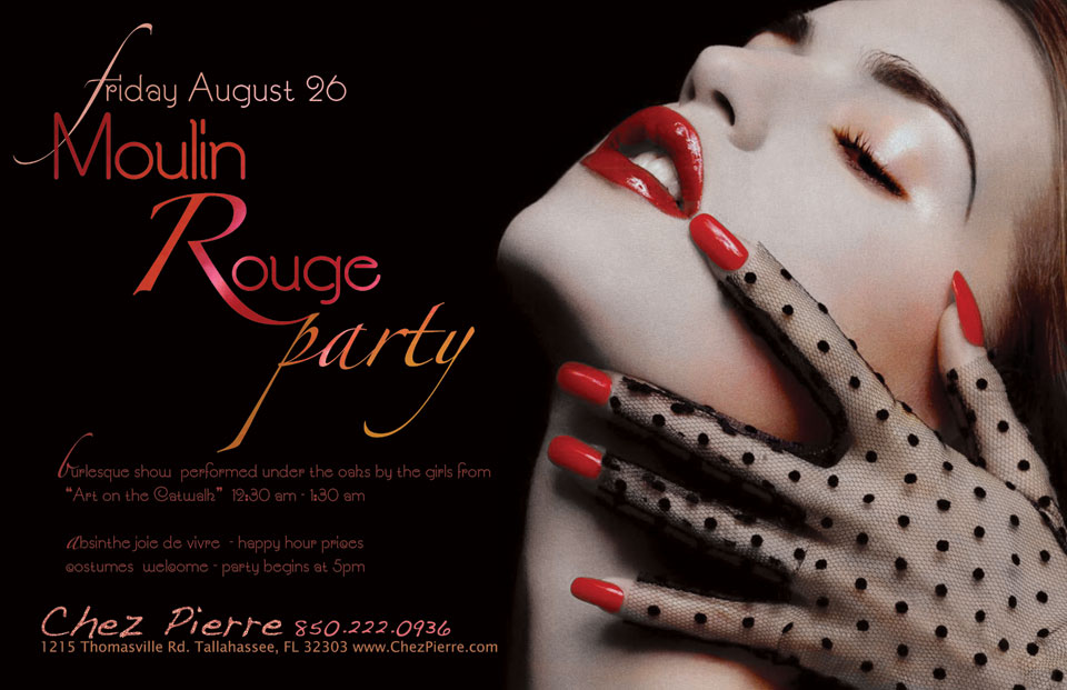 Moulin Rouge Party Poster