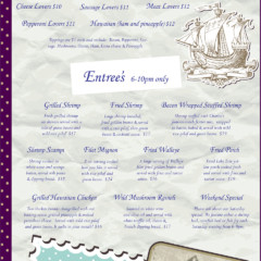 Baypoint Shores Club Menu Back Cover