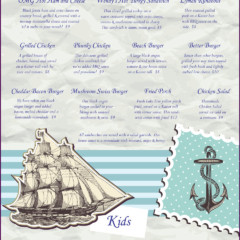 Baypoint Shores Club Menu Inside Right