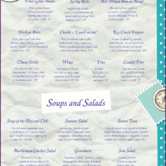 Baypoint Shores Club Menu Inside Left