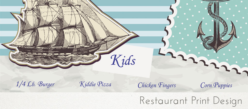 restaurant print design